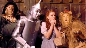 The cowardly lion in The Wizard of Oz (Metro-Goldwyn-Mayer)
