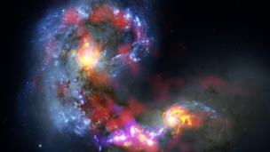 Tiny galaxy born in stellar crash