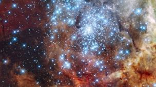 The Tarantula Nebula, 30 Doradus (Credit: NASA, ESA, and E. Sabbi (ESA/STScI))
