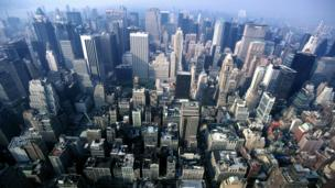 Aerial view of Manhattan, New York (Credit: Rollie Rodriguez / Alamy)