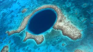 The Great Blue Hole on the Mesoamerican Reef (Credit: Ian Bottle / Alamy)