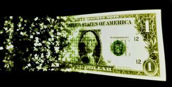 Digitised dollar bill