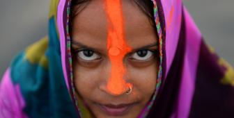 An Indian Hindu devotee a day ahead of the Chhat festival (Getty Images)