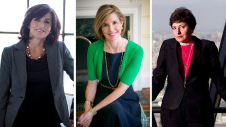 Chantal Glenisson, Sallie Krawcheck, Julia Hobsbawm.
