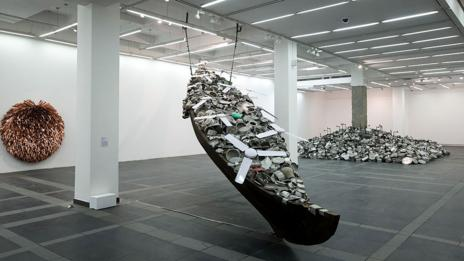All in the same boat, Subodh Gupta (Graham Crouch/Getty)