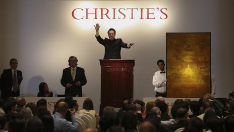 In December 2013 Christie's held its first Indian auction. (Divyakant Solanki/Corbis)