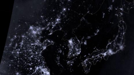 Censorship makes North Korea an internet blackspot. (Nasa)