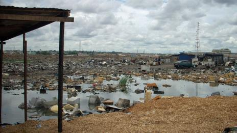 The e-wastelands of Agbogbloshie in Ghana. (Blacksmith Institute)