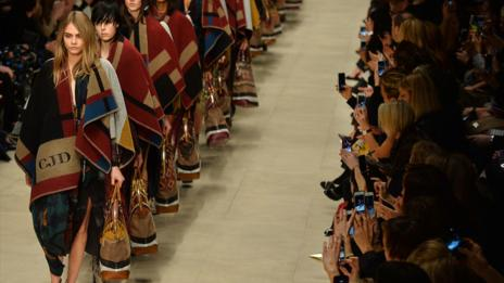All rugged up at Burberry (AFP/Getty Images)