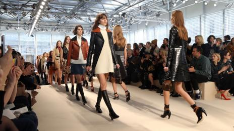 New mood: Nicolas Ghesquière's debut collection for Louis Vuitton. (Getty Images)
