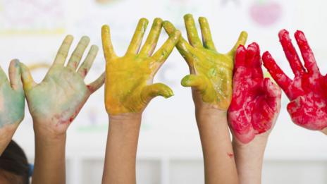 Painted hands (Thinkstock)