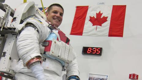 Canadian astronaut Jeremy Hansen trains for his first space mission. (NASA)