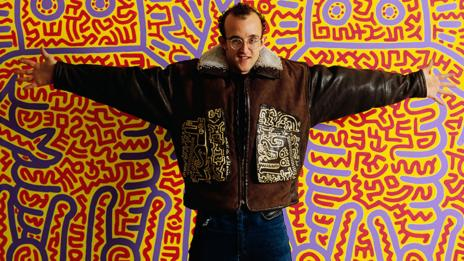 Keith Haring in 1985 ((Wayne Stambler/Corbis)