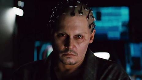 Johnny Depp in Transcendence (Warner Bros)