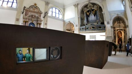 Ai's installation at the 2013 Venice Biennale. (Gabriel Bouys/AFP/Getty Images)