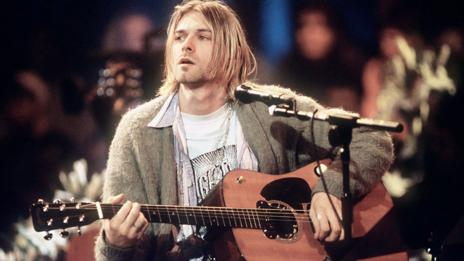 Kurt Cobain on MTV Unplugged (Frank Micelotta/Getty)