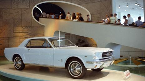 Mustang greets its public