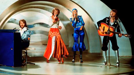 Abba, Melodifestivalen, 1974  (Olle Lindeborg/AFP/Getty Images)