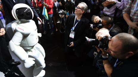 Honda's latest Asimo robot makes an appearance in New York.