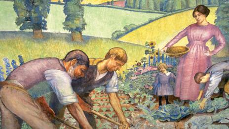 Dora Carrington, Picking Vegetables, 1912. (Photo permission of Ashridge Business School)