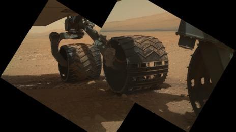 Curiosity's wheels.