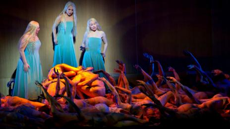 The Bavarian State Opera performing Wagner's Rhine's Gold in 2012 (Corbis)