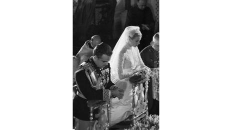 Grace Kelly's wedding to Prince Rainer in 1956 (Corbis)