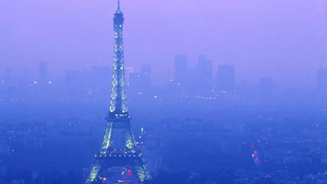 City of lights? Or city of smog? Paris air pollution hit peak levels in March.