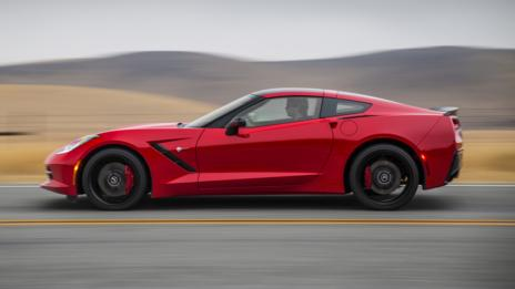 The C7 Corvette Stingray at full throttle. (General Motors)