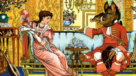 Beauty and the Beast - The Courtship. (Walter Crane/The Protected Art Archive/Alamy)