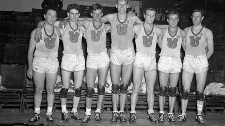 US Olympic Basketball team, 1936 (Bettmann/Corbis)