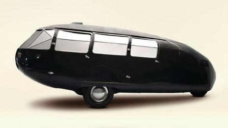 The three-wheeled 1934 Dymaxion 4 Door Transport by Buckminster Fuller (Getty)