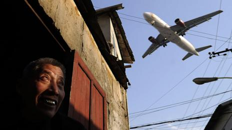 ...our reliance on polluting air travel? (Getty Images)
