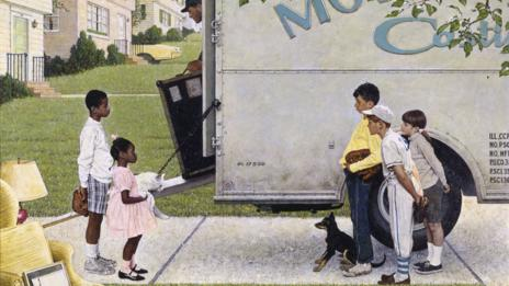 New Kids in the Neighborhood (Negro in the Suburbs), 1967 (Norman Rockwell)