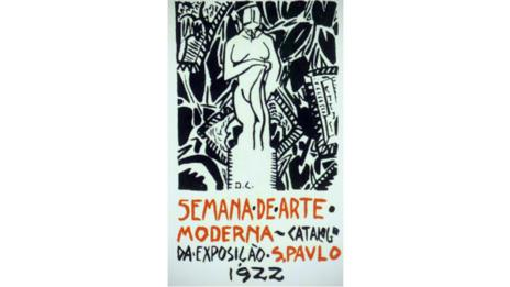 Cover of an exhibition catalogue from the Semana de Arte Moderna, 1922.