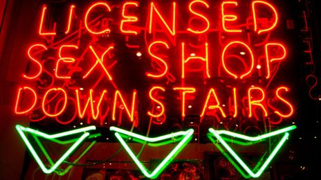 Sex shop sign (Jeffrey Blackler/Alamy)