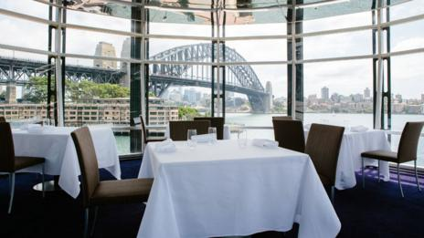 Quay offers spectacular views of Sydney's harbour. (Luisa Brimble)