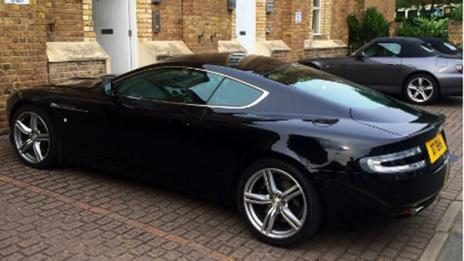Hanton's '007 edition' Aston Martin DB9. (Bobby Holland Hanton)