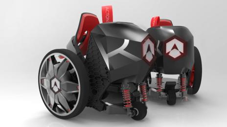 Acton R RocketSkates R-10 'Deep Space Black'
