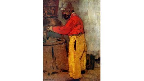 A portrait of Henri Toulouse-Lautrec at Villeneuve sur Yonne (Vuillard Edouard, 1898)