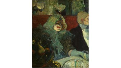 In a Private Dining Room (At the Rat Mort) by Henri de Toulouse-Lautrec, 1899