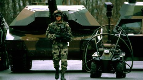 Military bots are currently guided by humans, but autonomy may grow in the future (SPL)