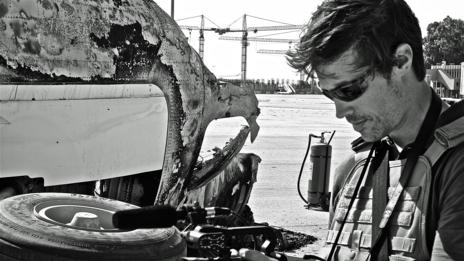 James Foley at the Tripoli (Libya) airport in August, 2011. (Jonathan Pedneault)
