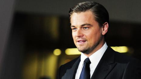 Actor Leonardo DiCaprio appears formal in a black tie. (Getty Images)