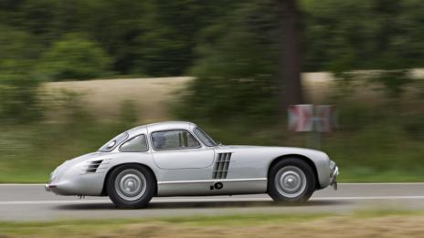 Silver: Mercedes-Benz 300 SL Gullwing