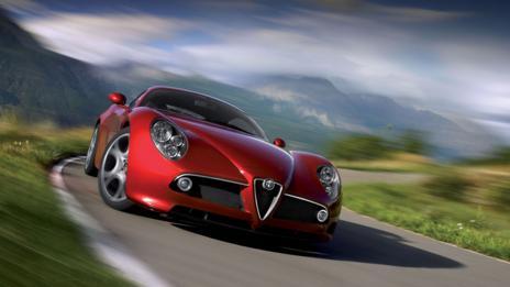 Red: Alfa Romeo 8C Competizione