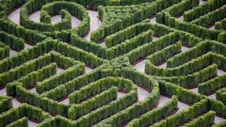 Labyrinths recur in many of Borges' works (Corbis)