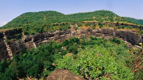 The Ajanta Caves were abandoned in the 5th Century AD