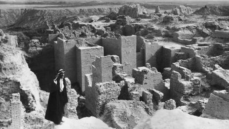 An excavation of the city of Babylon in 1932