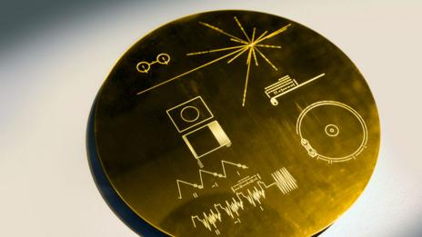 Voyager's golden disc: tunes for aliens (Credit: SPL)